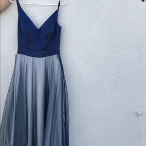 Dresses & Skirts - Navy blue simple prom dress